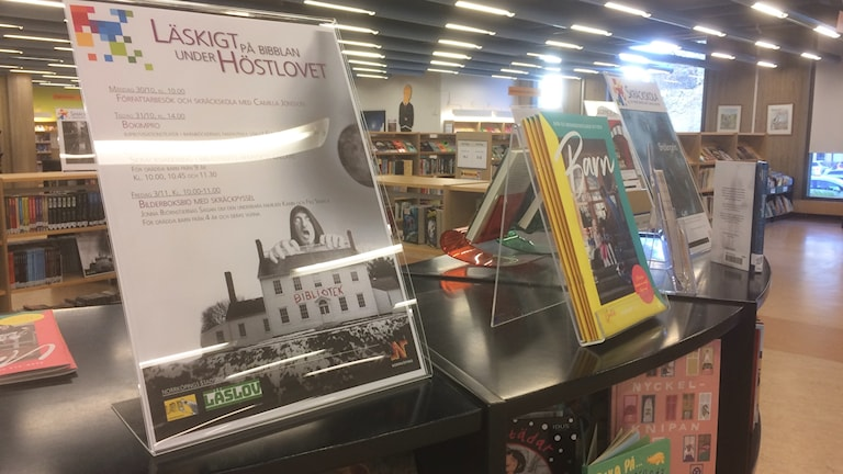 Lovaktiviteter på Norrköpings stadsbibliotek.