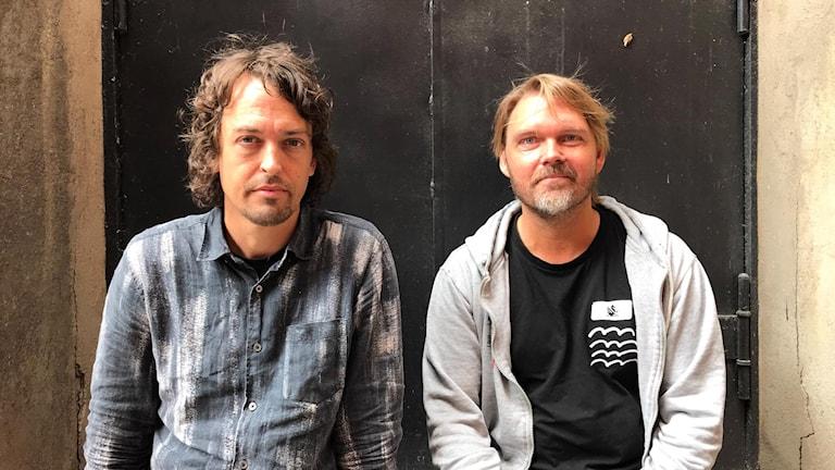 Regissören Johannes Nyholm och skådespelaren Leif Edlund Johansson.