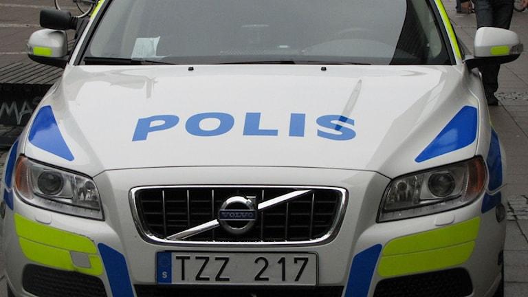 Polisbil. Foto: Christina Turesson/Sveriges Radio