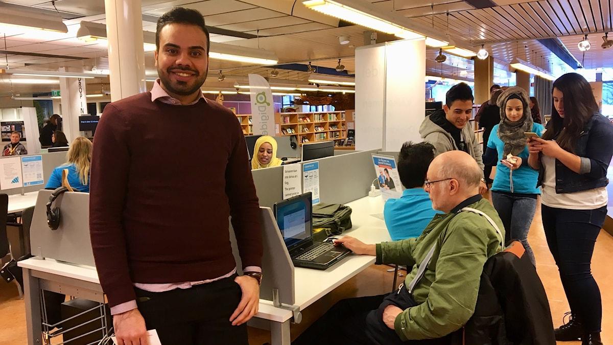 Morteza Akbari, samordnare IT-guide-projektet.