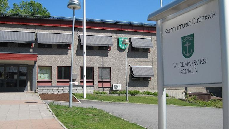 Kommunhuset Valdemarsvik Foto: Lovisa Gelin/Sveriegs Radio