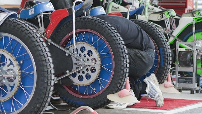Speedwaycyklar. Foto: Kim Hellström