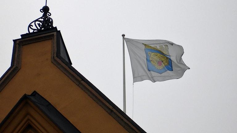 Linköpings kommuns flagga Foto: Claes Lundkvist/Sveriges Radio