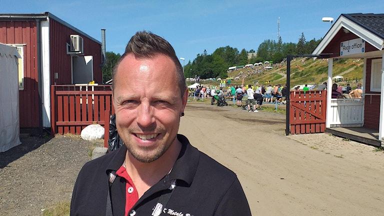 Fredrik Karlsson, tävlingsledare Motala folkracefestival.