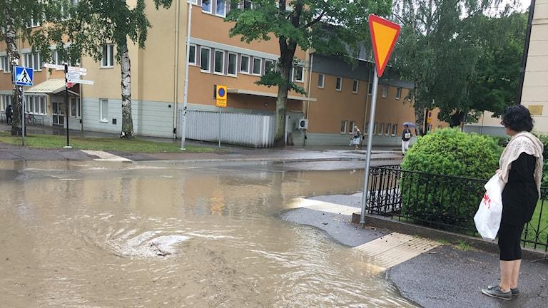 Onsdagens regnoväder orsakade översvämningar på flera håll i Linköping.