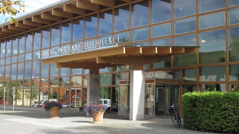 Länsbiblioteket i Linköping höst foto:Maria Turdén/Sveriges Radio