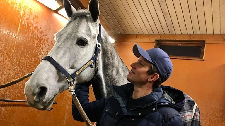 Hästen Mexico och ryttaren Fredrik Spetz.
