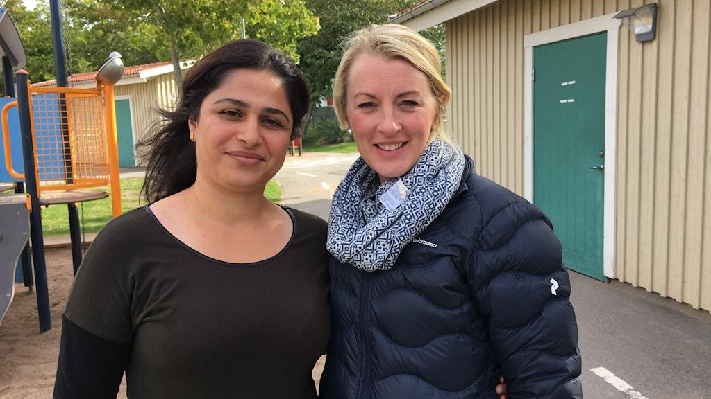 Sherin Barwari Bala och Anna Danckwardt-Lillieström.