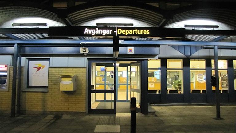 Norrköpings flygplats entré.