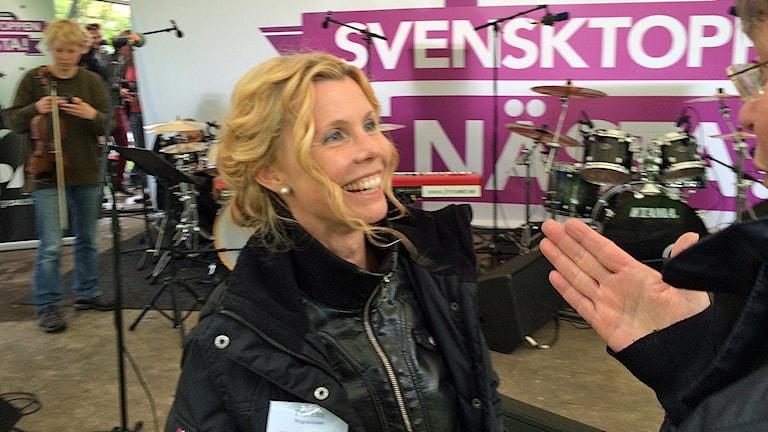 Titti Elm på Svensktoppen nästa-finalen.