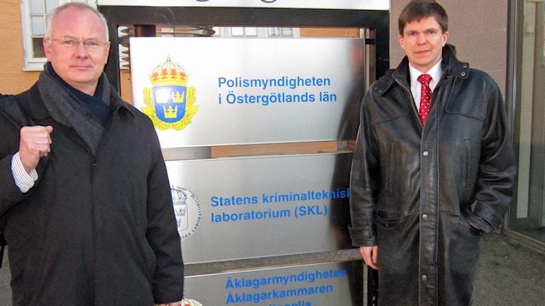 Riksdagsmännen Finn Bengtsson (M) och Andreas Norlén (M). Foto: Johan Gustafsson/SR