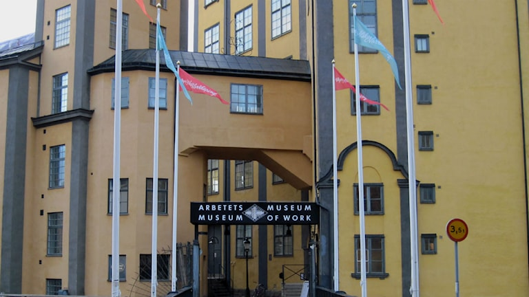 Arbetets museums entré. Foto: Maria Turdén/Sveriges Radio.