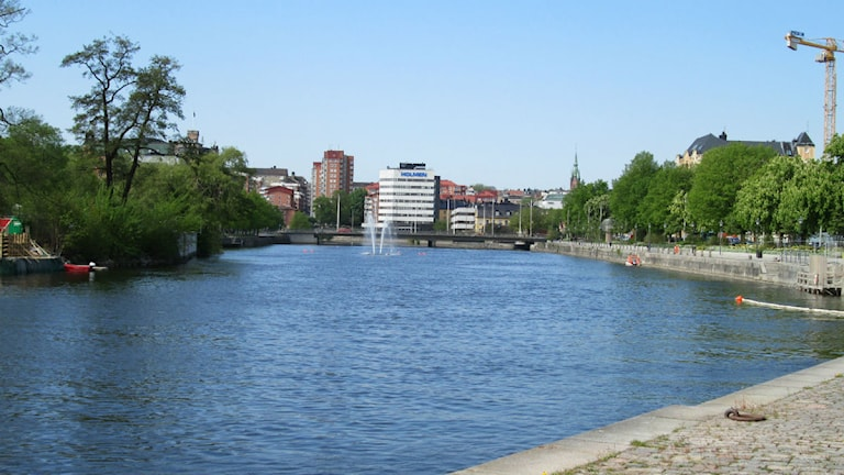 Motala ström vid Strömsholmen i Norrköping. Foto: Maria Turdén/Sveriges Radio