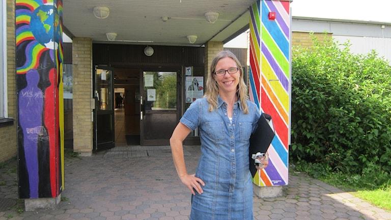 Ewa Bäckelid på Skäggetorpsskolan i Linköping. Foto: Raina Medelius/Sveriges Radio