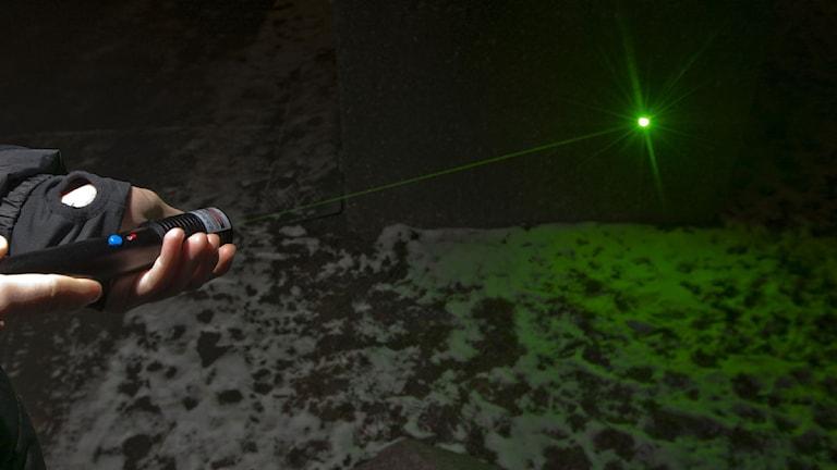 Laserpekare Foto: Terje Bendiksby/Scanpix