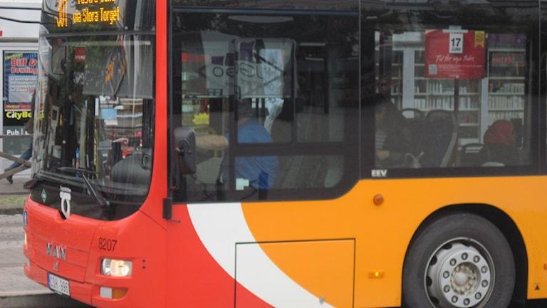 Buss. Foto: Christina Turesson/Sveriges Radio