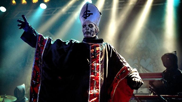 Metalgruppen Ghost på Sweden Rock Festival 2011 Foto: Claudio Bresciani/TT.