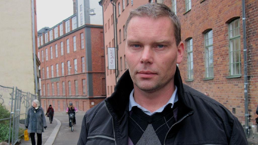 Magnus Cato ordförande i Byggnadsarbetareförbundet Öst foto:Annika Selin/Sveriges Radio