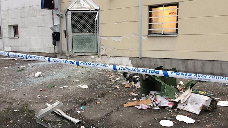 Explosion på Butängen.