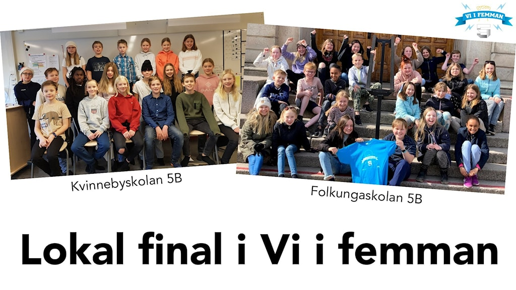 Kvinnebyskolan 5B och Folkungaskolan 5B tävlar i finalen i Vi i femman Östergötland 2021.