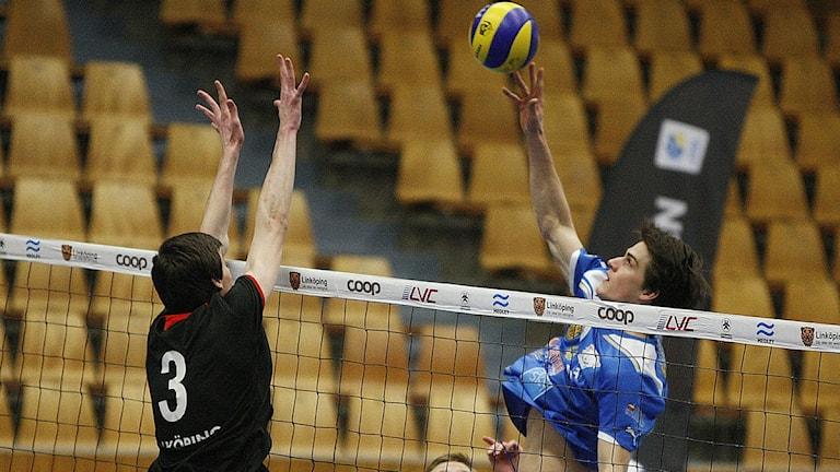 Volleybollmatch. Foto: Kim Hellström