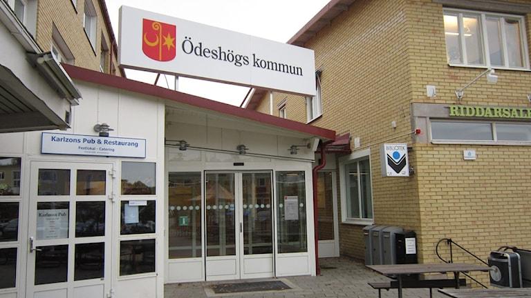 Ödeshögs kommunhus. Foto: Raina Medelius/Sveriges Radio