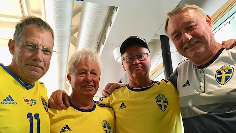 Svesse Persson, Lars Svensson, Roger Nylander och Torbjörn Jarnhed från Rimforsa old boys