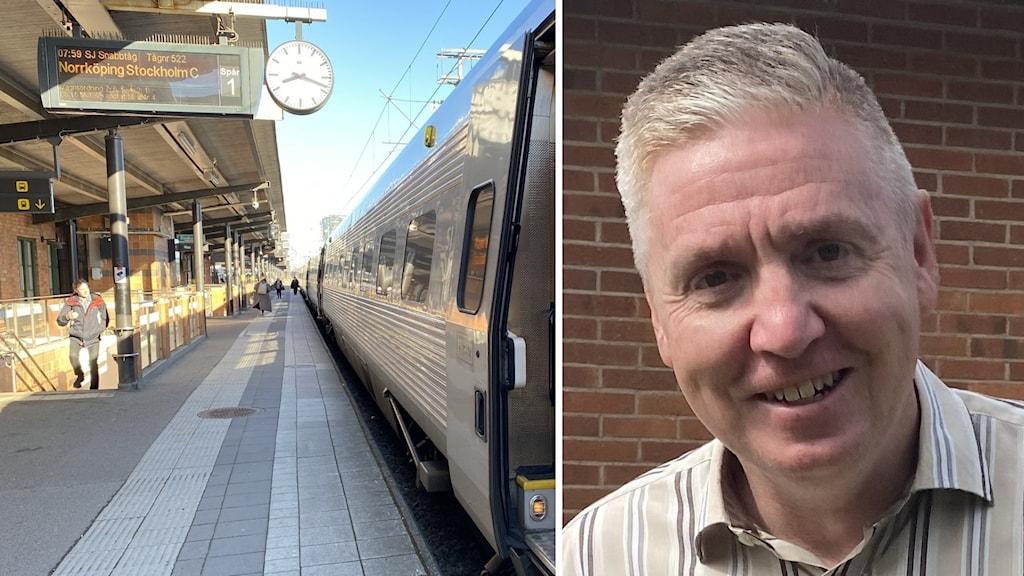Kevin Gibbs är en av Ostlänkens projektledare på Trafikverket.