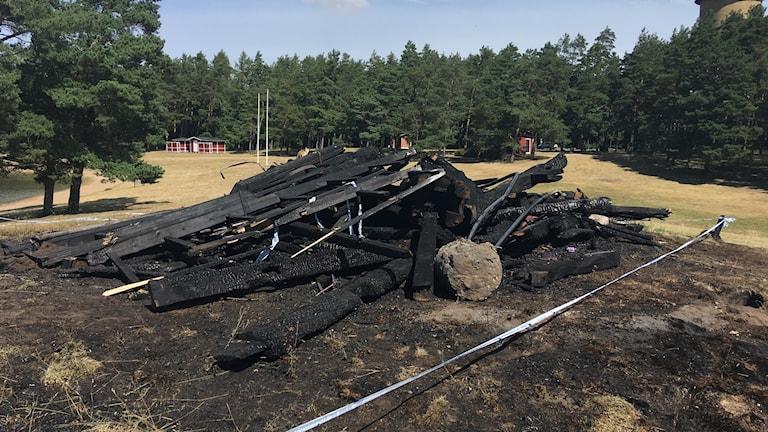 Kvarnen, brand 2017 Skänninge.