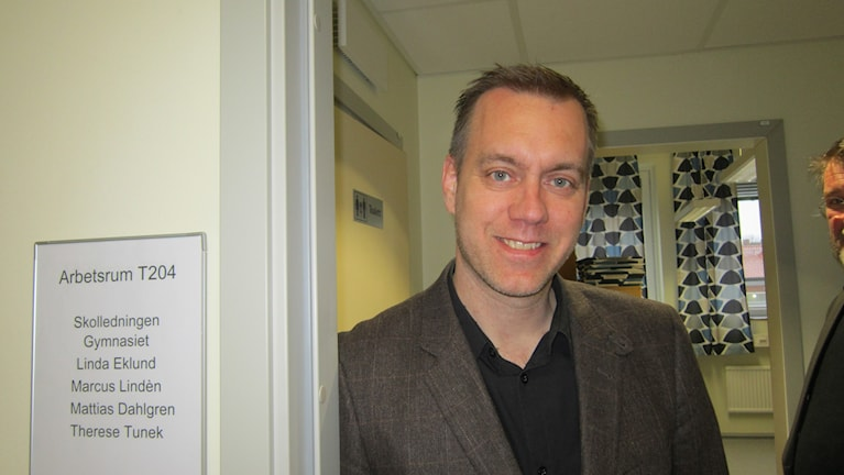 Gymnasierektor Mattias Dahlgren på Berzeliusskolan.