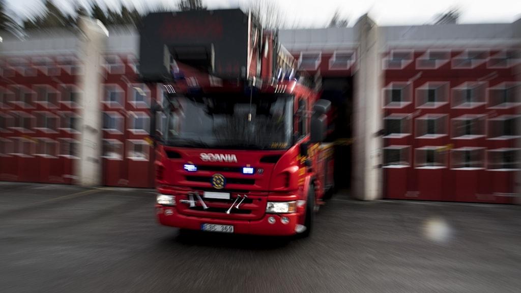 Bild på brandbil.