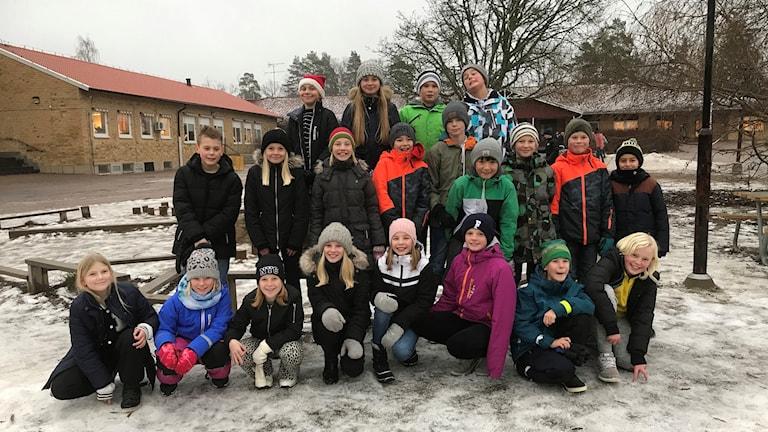 Rimforsa skola klass 5B tävlar i Vi i Femman 2019.
