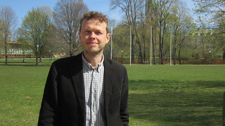 Räddningstjänsthandläggare Carl Granström på länsstyrelsen.