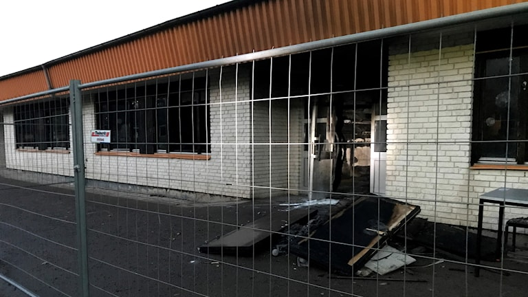 Brand på Tamburinens skola iKklockaretorpet i Norrköping.