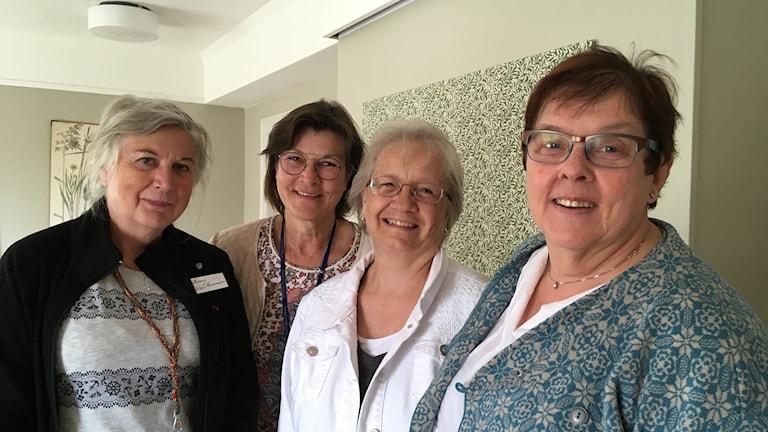 Föreningen Svenska Spetsar. Från vänster: Hedwig Silén Hermanson, Marie Rodling, Anne Hanson och Lena Hovmark.