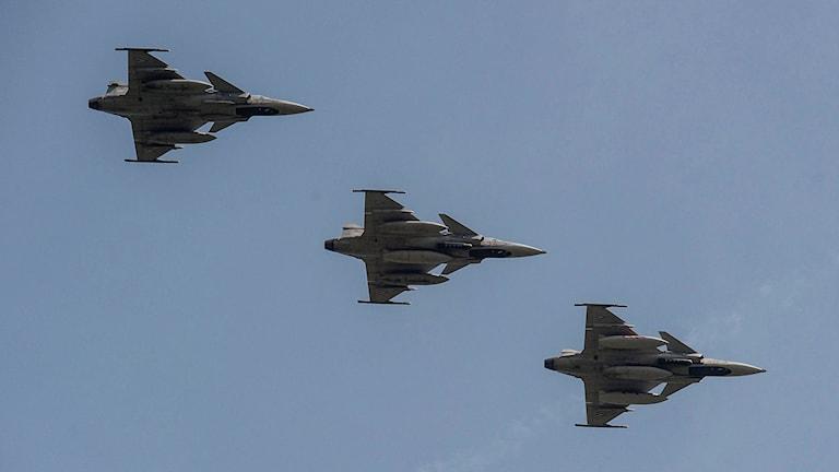 Tre Jas Gripen-plan under ungersk Natoövning
