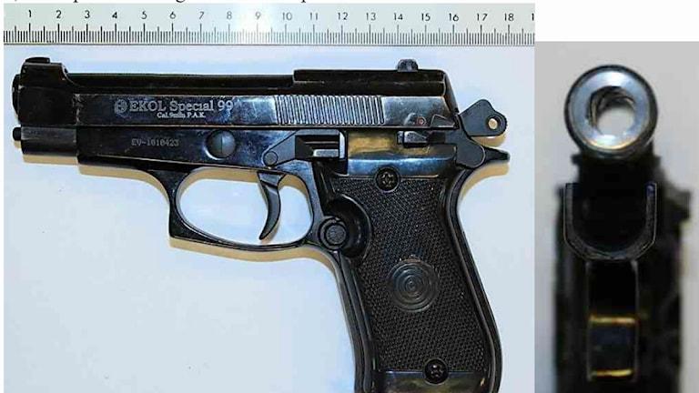Pistol Foto:Ur polisens förundersökning