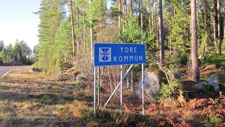 Ydre kommunskylt. Foto: Raina Medelius/Sveriges Radio