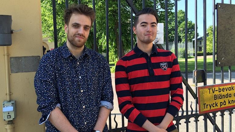 Fredrik Selldén och Christoffer Granberg, studenter vid KSM