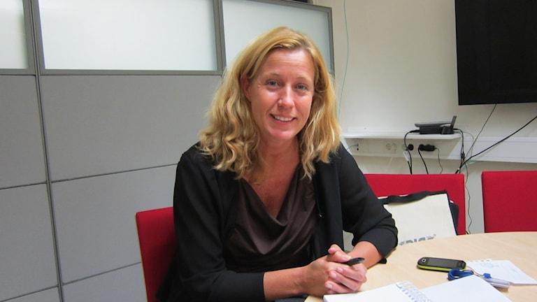 Överläkare Cecilia Gunnarsson på Universitetssjukhuset i Linköping. Foto: Raina Medelius/Sveriges Radio