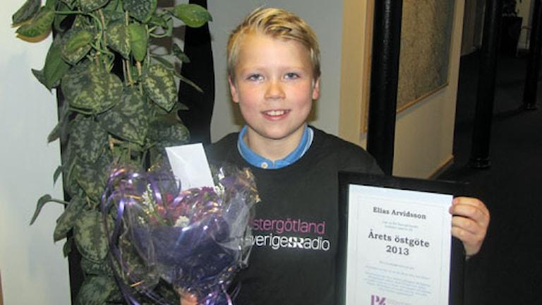 Årets östgöte 2013, Elias Arvidsson. Foto: Lotta Karlsson, Sveriges Radio.