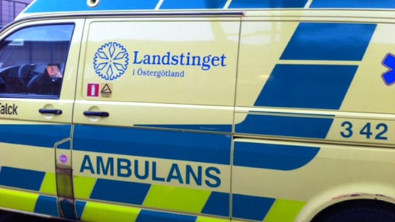 Ambulans.  Foto: Christina Turesson/Sveriges Radio