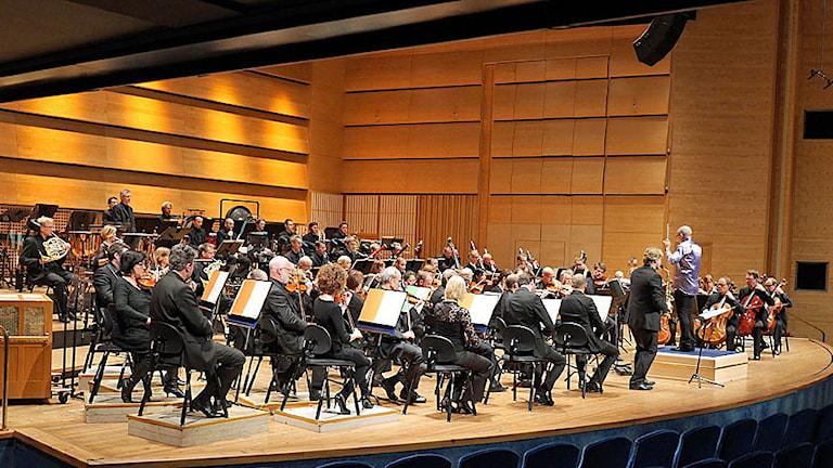 Konserten med Norrköpings Symfoniorkester under ledning av Christian Lindberg. Foto: SON