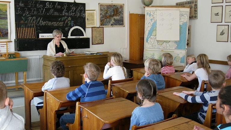 Skolsal på skolmuseet i Norrköping foto:Maria Turdén/Sveriges Radio