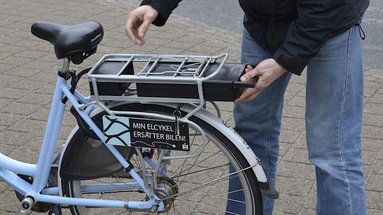 Elcykel hos gatukontoret Malmö. Foto: Jon Willén/TT