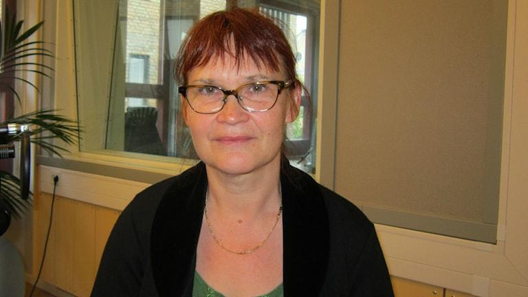 Riksdagsledamot Annika Lillemets (MP) från Linköping. Foto: Raina Medelius/Sveriges Radio
