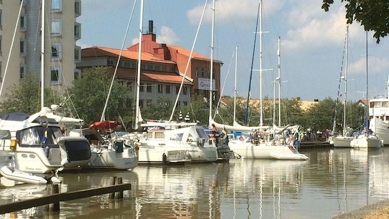 Båtar i Kanalhamnen. Foto: Christina Turesson/Sveriges Radio.