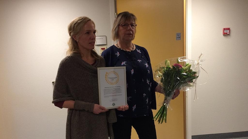Sjuksköterskan Rosmari Mossberg-Maghsoudi och fysioterapeuten Hanna Waldemarson