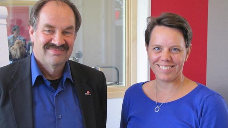 Mats Johansson (S) och Marie Morell (M) landstingspoltiker i Norrköping