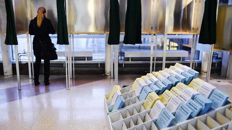 Förtidsröstning.Foto: Bertil Ericson/TT